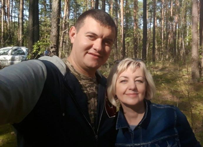 Богдан Марцонь зі своєю матір'ю