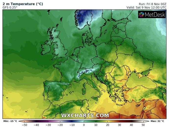 В выходные Украина будет одной из самых теплых стран Европы