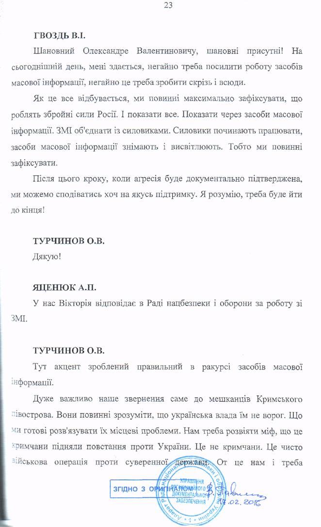 6277121-23 Стенограмма заседания РНБО во время захвата Крыма