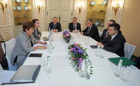 66b3e66 zel mvf - Зеленский обсудил с директором МВФ ряд законопроєктів