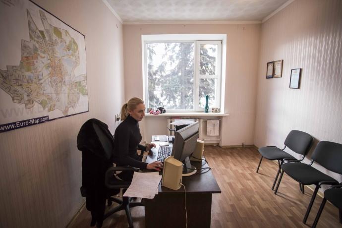 Алёна Карпушкина в общественной приемной