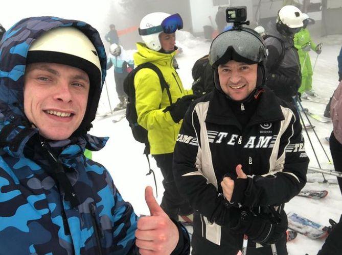 Зеленський серед лижників