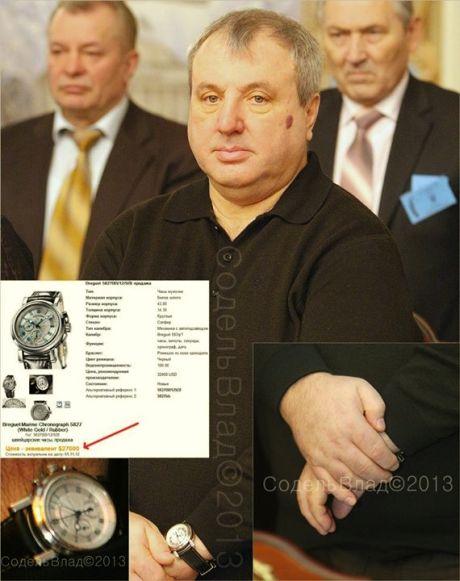 Судья КС Овчаренко носит часы Breguet Marine Chronograph стоимостью $27000-32400