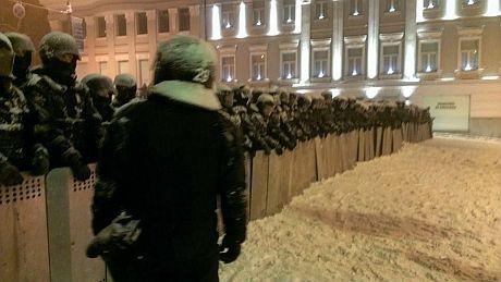 Возле стадиона Динамо еще один кордон