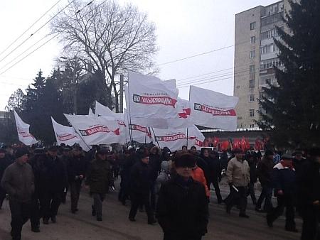 Опозиційний марш у Тернополі