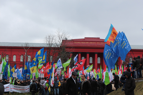 Мітинг опозиції в Києві. Фото Оксани Коваленко, УП