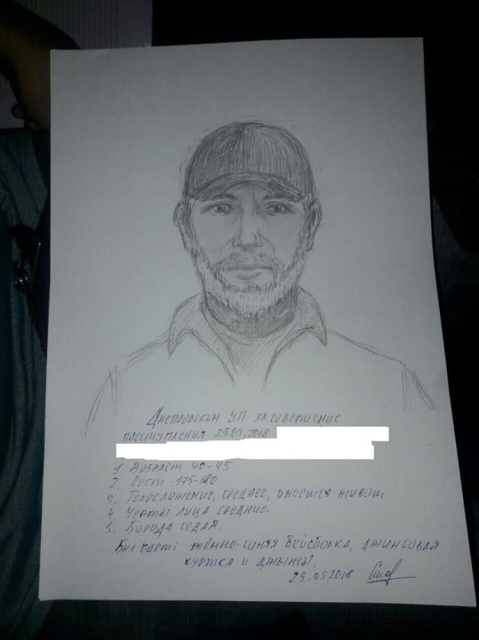 Фоторобот підозрюваного у вбивстві Аркадія Бабченка