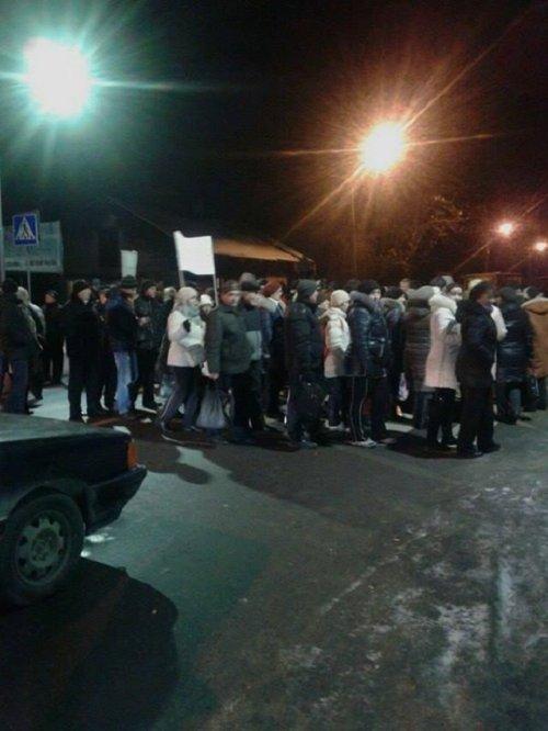 Учасники протесту на вул. Шевченка (фото патрульної поліції Львова)