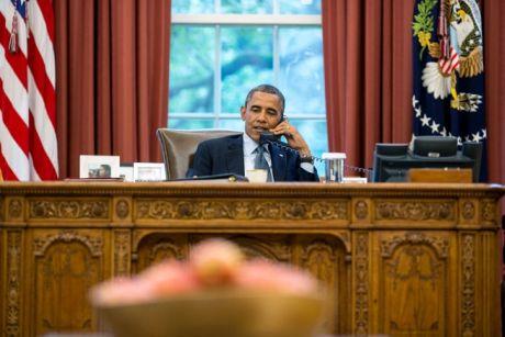 Телефонна розмова Обами і Путіна 12 липня 2013 року – фото з сайту White House