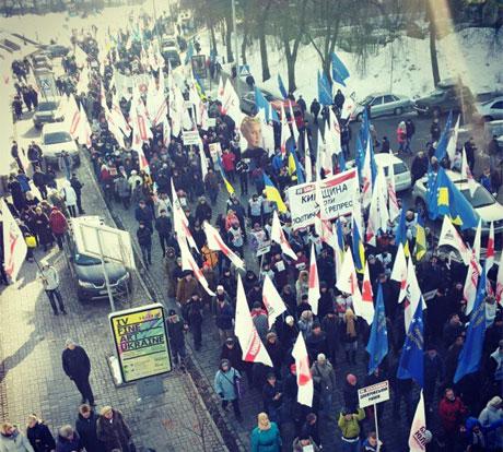«Киевляне против политических репрессий!» (ФОТО, ВИДЕО)