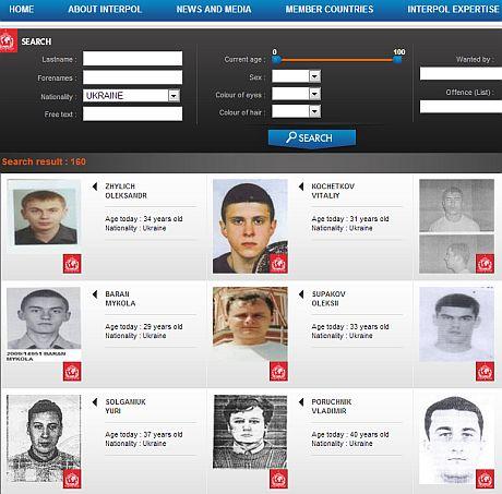 Украинцы в международном розыске