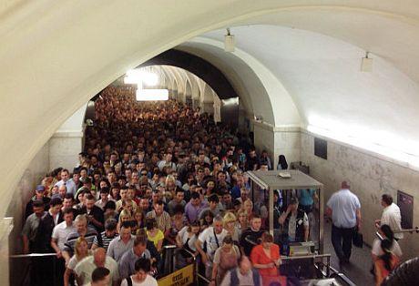 Пожежа у московському метро. Станція Парк культури – Кільцева