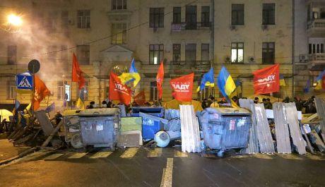 Намети мітингувальників поблизу МВС. Фото Сергія Лещенка
