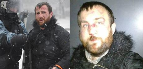 Львівський фотограф Марян Гаврилів до і після затримання. Фото: Алекс Фурман