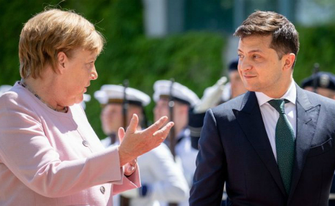 Стало известно, о чем говорили Зеленский и Меркель | Украинская правда