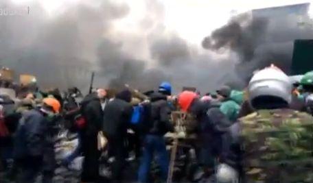 Майдан Незалежності близько 8:30 ранку 20 лютого