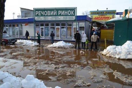 В Киеве начало затапливать улицы. Фото с сайта Ukranews