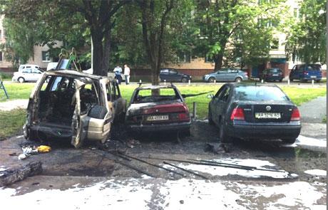 Спалений автомобіль ударівця