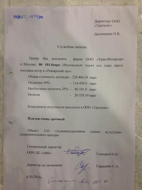 80,106 тыс. евро за шторы в Рыцарский зал