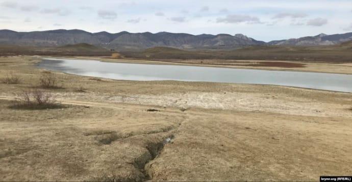 Обміліле озеро Бугаз