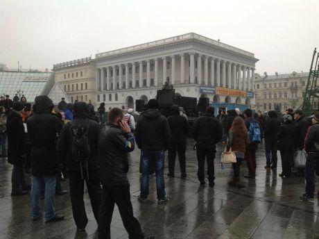 Утро на Евромайдане. Фото пресс-службы Батькивщины