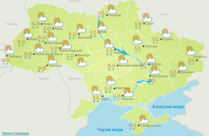 Погода 4 березня