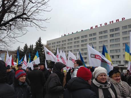 Акція Вставай, Україно! в Житомирі. Фото прес-служби Батьківщини