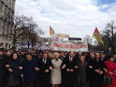 Оппозиция идет на ВР. Фото Батькивщины