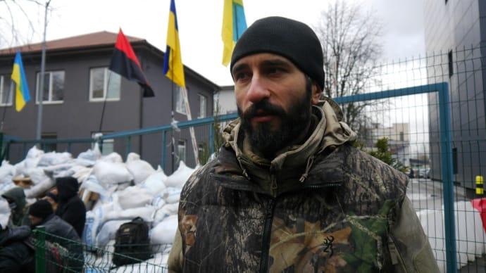 Віталій Чорний, громадський активіст учасник блокади