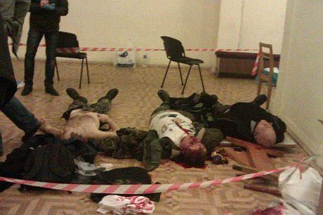 Загиблі протестувальники в Будинку офіцерів. Фото: Анна Бабінець