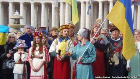 """Вертеп """"Євромайдан"""" у Ватикані. Фото: Радіо Свобода"""