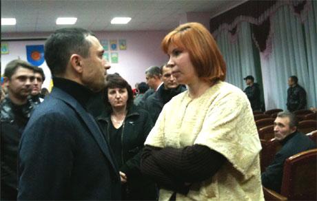 Виктор Романюк и Татьяна Засуха. Фото Оксаны Коваленко, УП