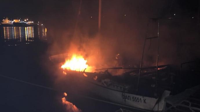 Яхта Шаєвського горіла