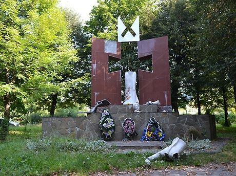 На Львовщине ночью уничтожили памятник УПА