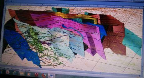 Фото 3 d-карты пластов цветных металлов Мужиевского месторождения (источник: ООО «Карпатская рудная компания»)