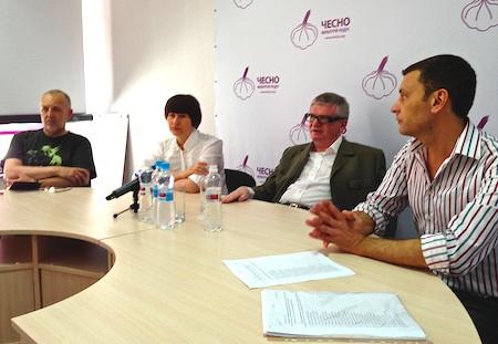 Кагаловский на пресс-конференции в воскресенье. Фото Украинской правды