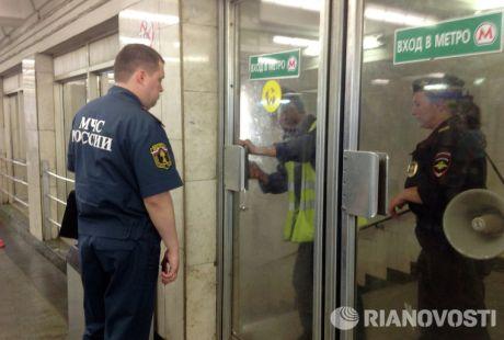 Пожар в московском метро 5 июня. Фото РИА Новости