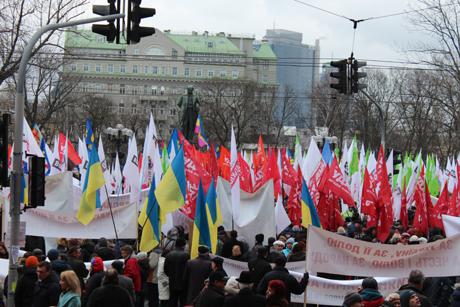 Митинг оппозиции в Киеве. Фото Оксаны Коваленко, УП