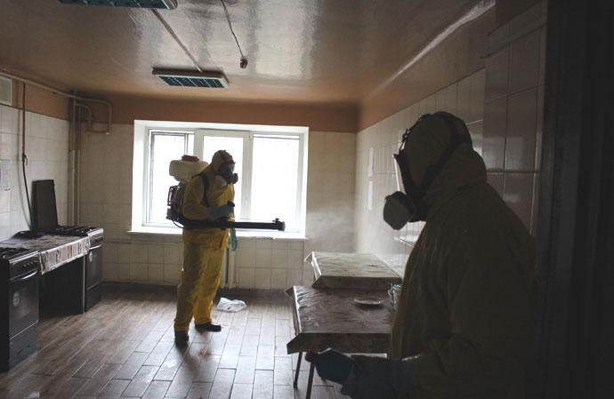 В Киеве снова дезинфицировали общежитие, где жил студент с коронавирусом |  Украинская правда