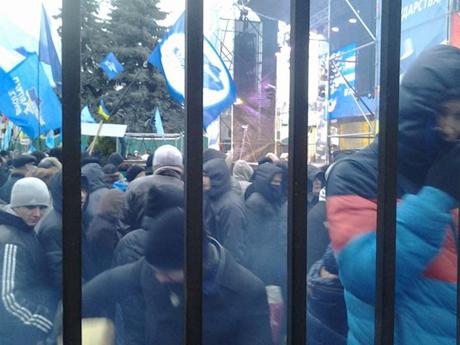 Мітингувальники на акції Партії регіонів