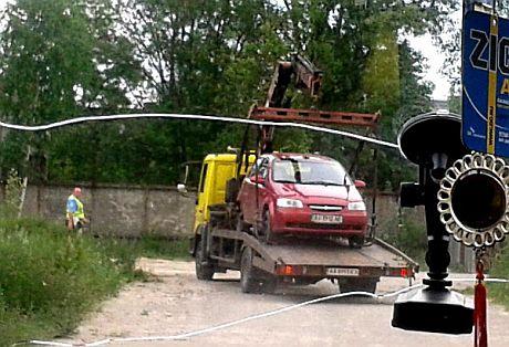 У журналистки изъяли авто после посещения Межигорья