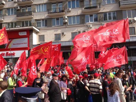 Демонстрація комуністів на Хрещатику 1 травня 2013 року