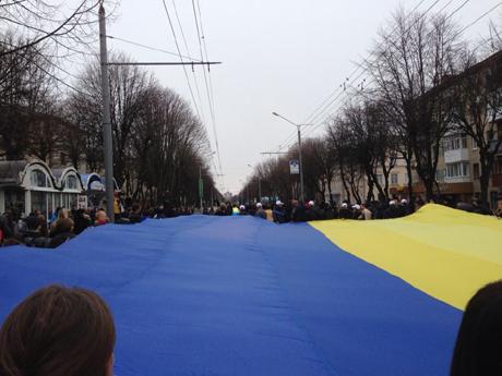 Оппозиция на митинге в Луцке