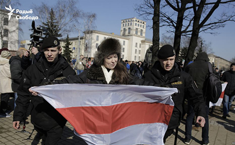 Оппозиционеры задержаны вцентре Минска