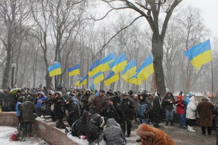 Мітинг прихильників влади під ВР