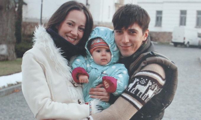Виктор Гурняк с семьей