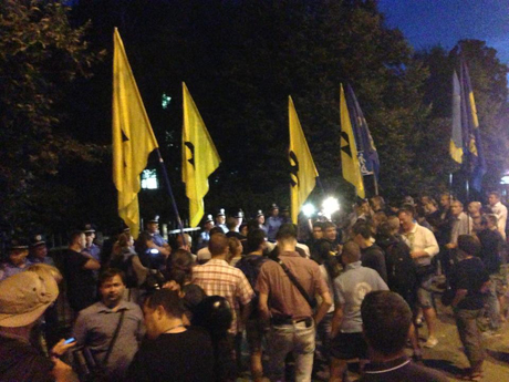 Акция у Святошинского райотдела в субботу. Фото с Facebook Арьева