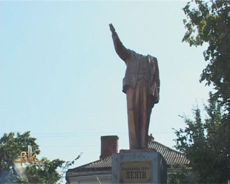 У Бердичеві знесли голову Леніну