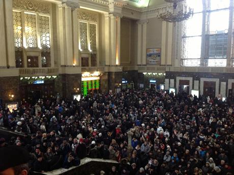 Киевский вокзал в субботу. Фото с Facebook