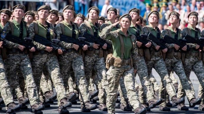 Жінки-військові на параді до Дня Незалежності України. Київ, 24 серпня 2018 року